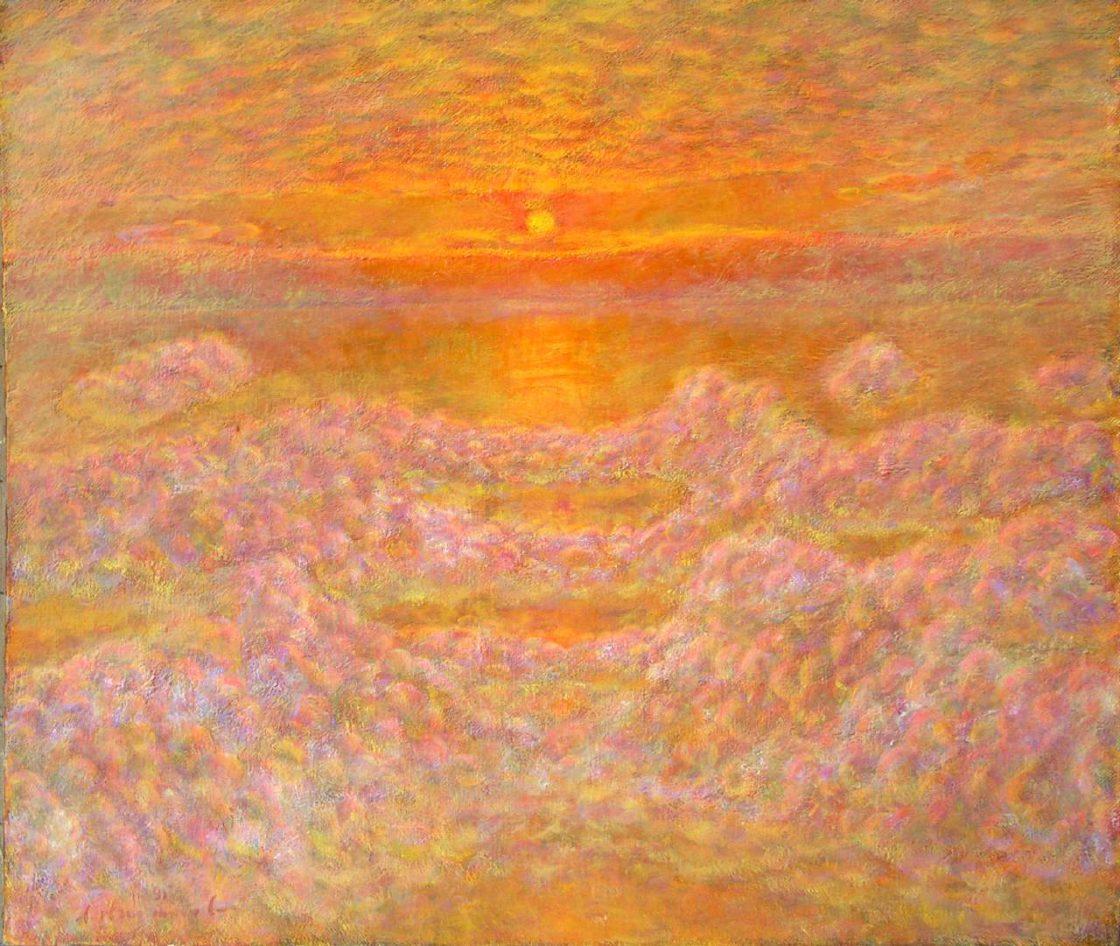 Закат на Белом море. 1995 г. Холст, масло, 70 х 80,5 см