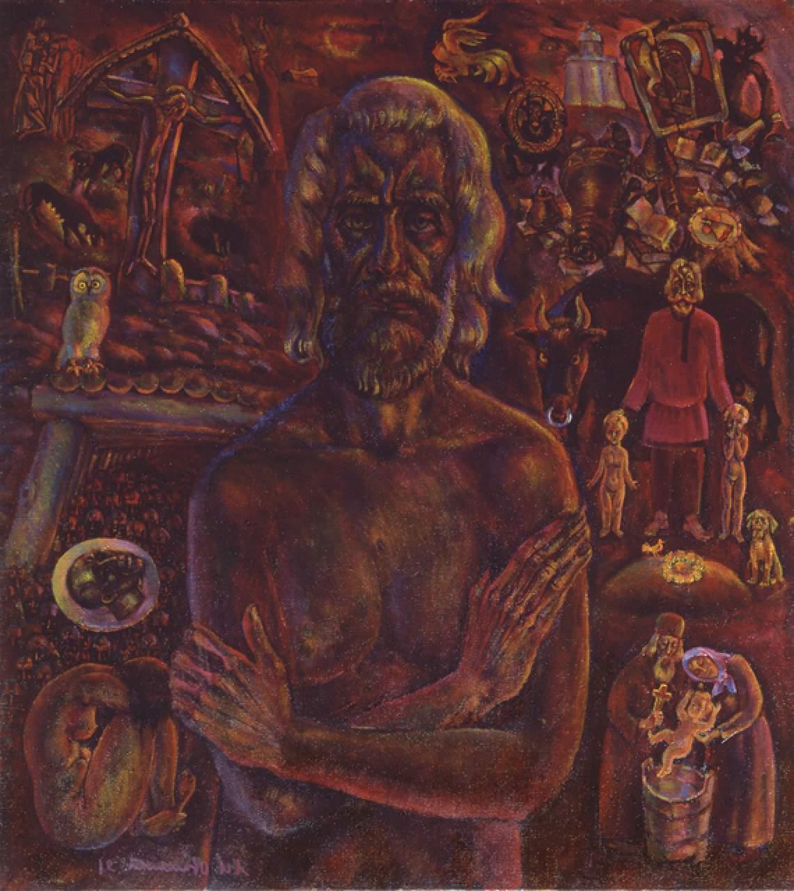 АВТОПОРТРЕТ. 1989—91 гг. Холст, масло, 97 х 87 см